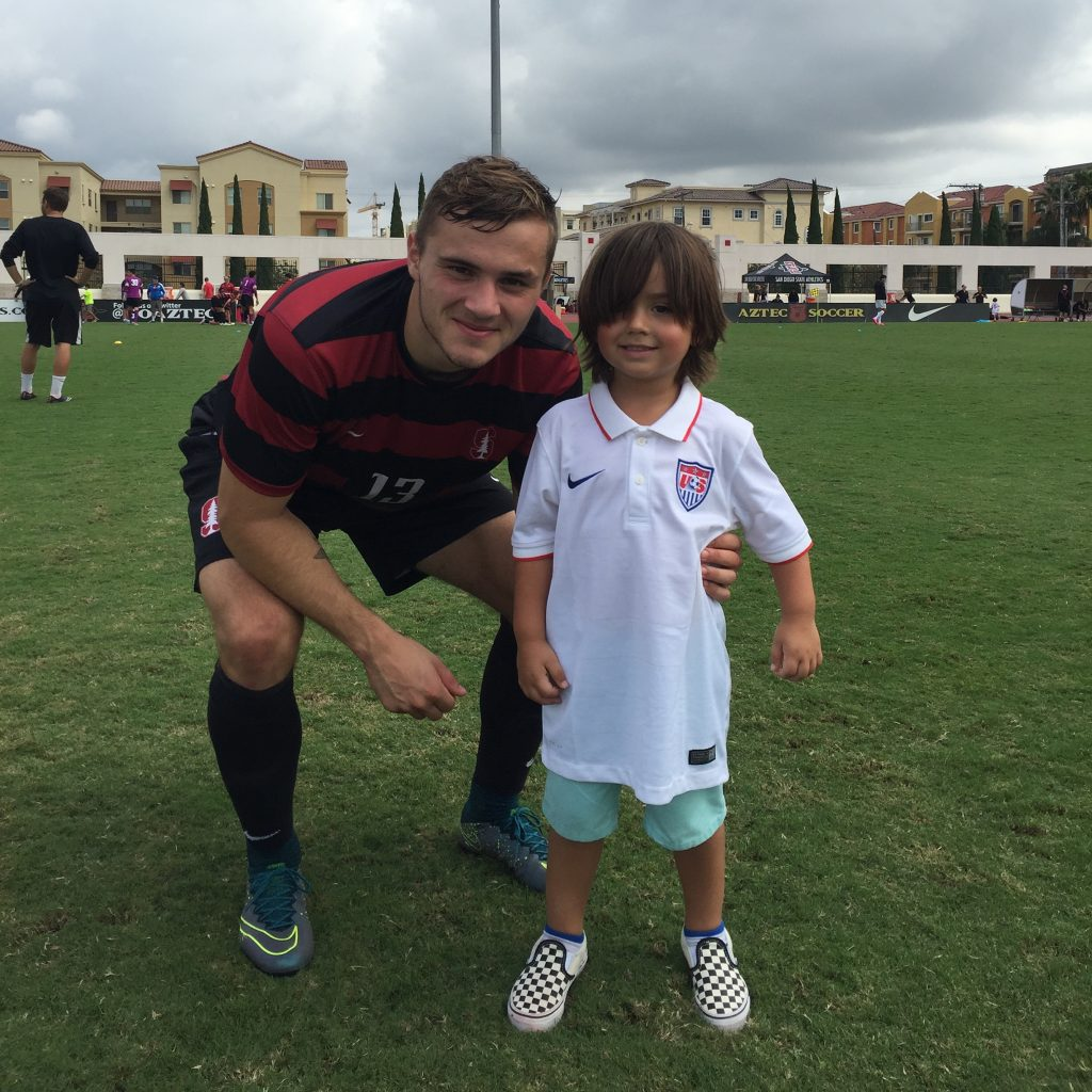Holden Campbell with Jordan Morris