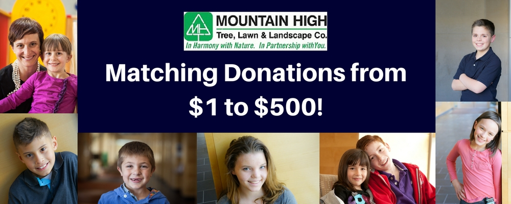 Mountain High Matching Donations from $1 to $500